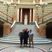 Carmen, born in Romania, visiting our beautiful Romanian Athenaeum