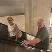 Me and Mike, using the subway escalators :)